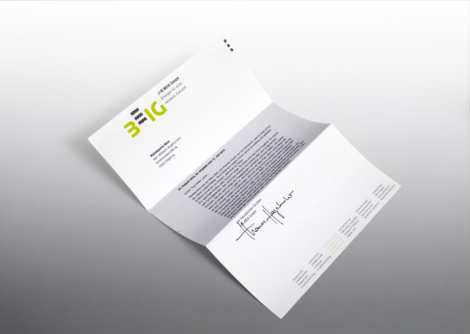 BEIG Briefpapier