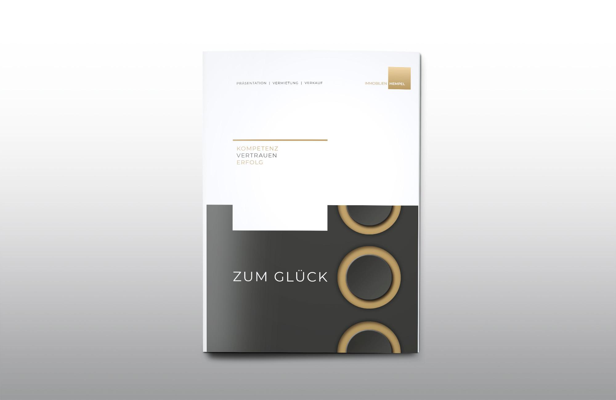 Immobilien Hempel Imagebroschüre Cover