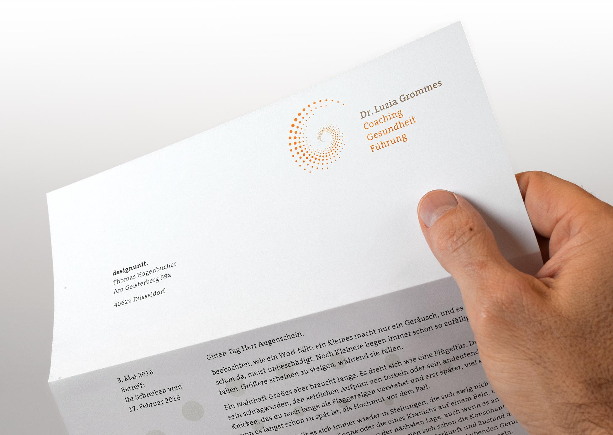 Luzia Grommes Briefpapier