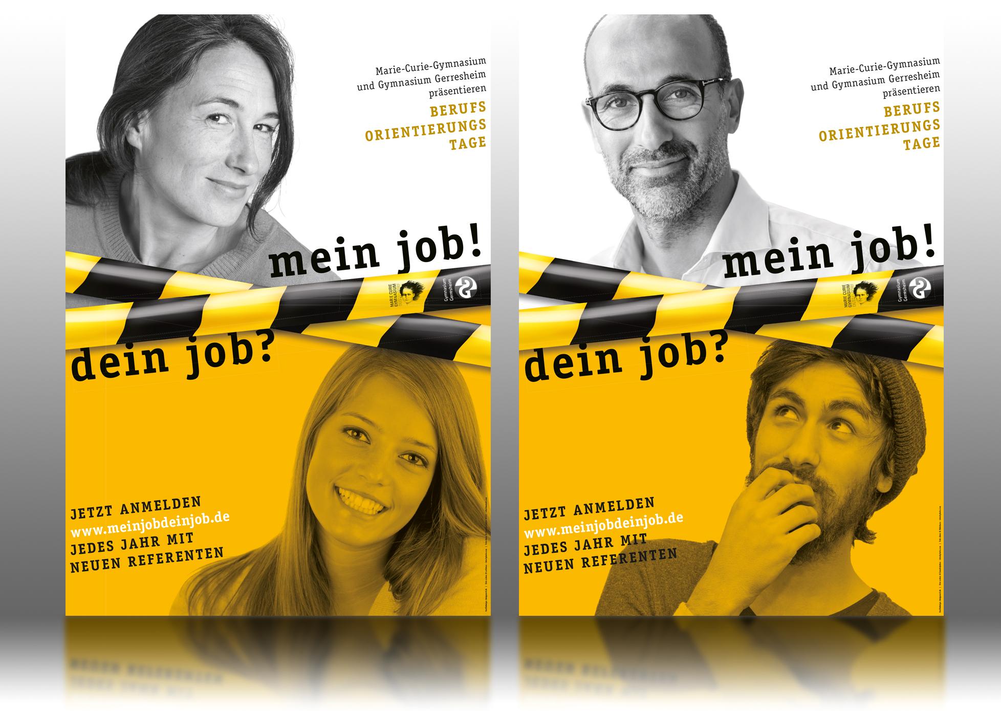 mein job! dein job? Plakat