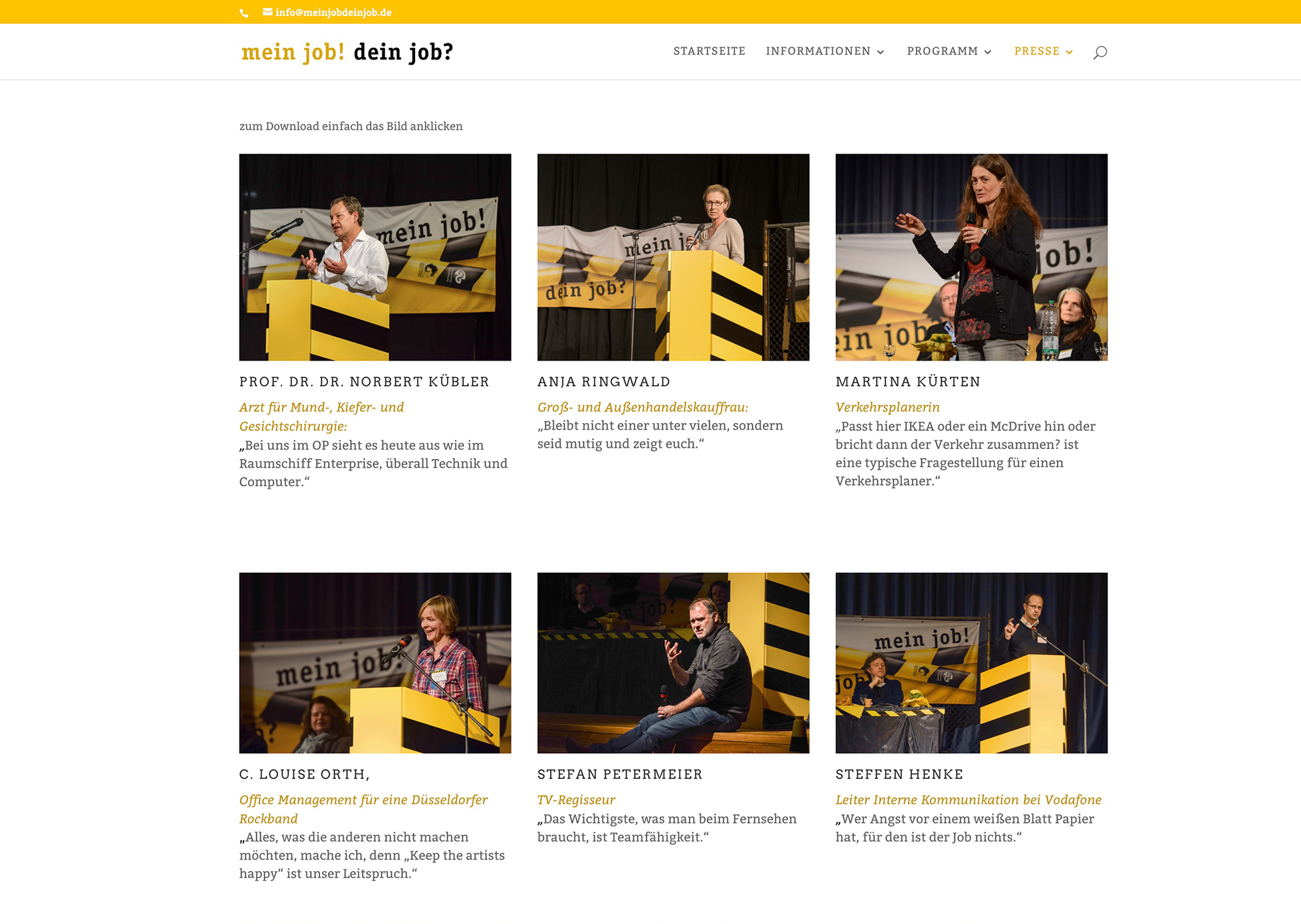 mein job! dein job? Website