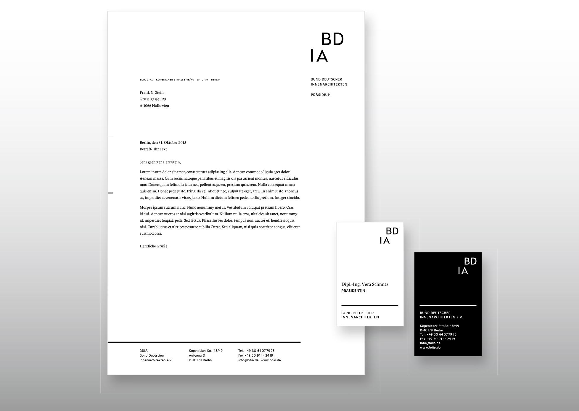 BDIA Revolution Briefpapier